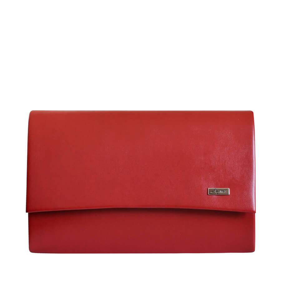 19f7634cdc Detail produktu Moderná červená matná listová kabelka