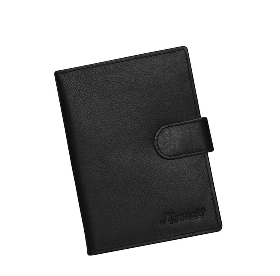 26720641d2 Čierna kožená dokladovka so zapínaním Mercucio - Lamour.sk