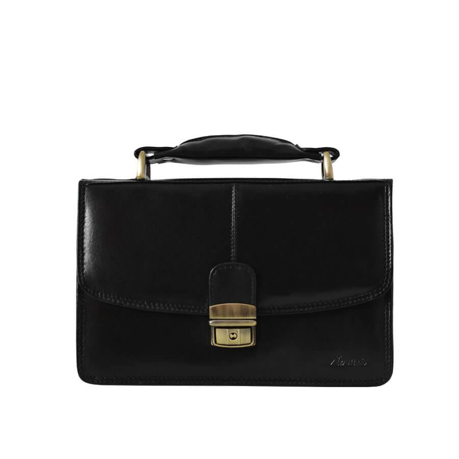 b6069ef27 Čierna pánska kožená taška etue Mercucio s rúčkou - Lamour.sk