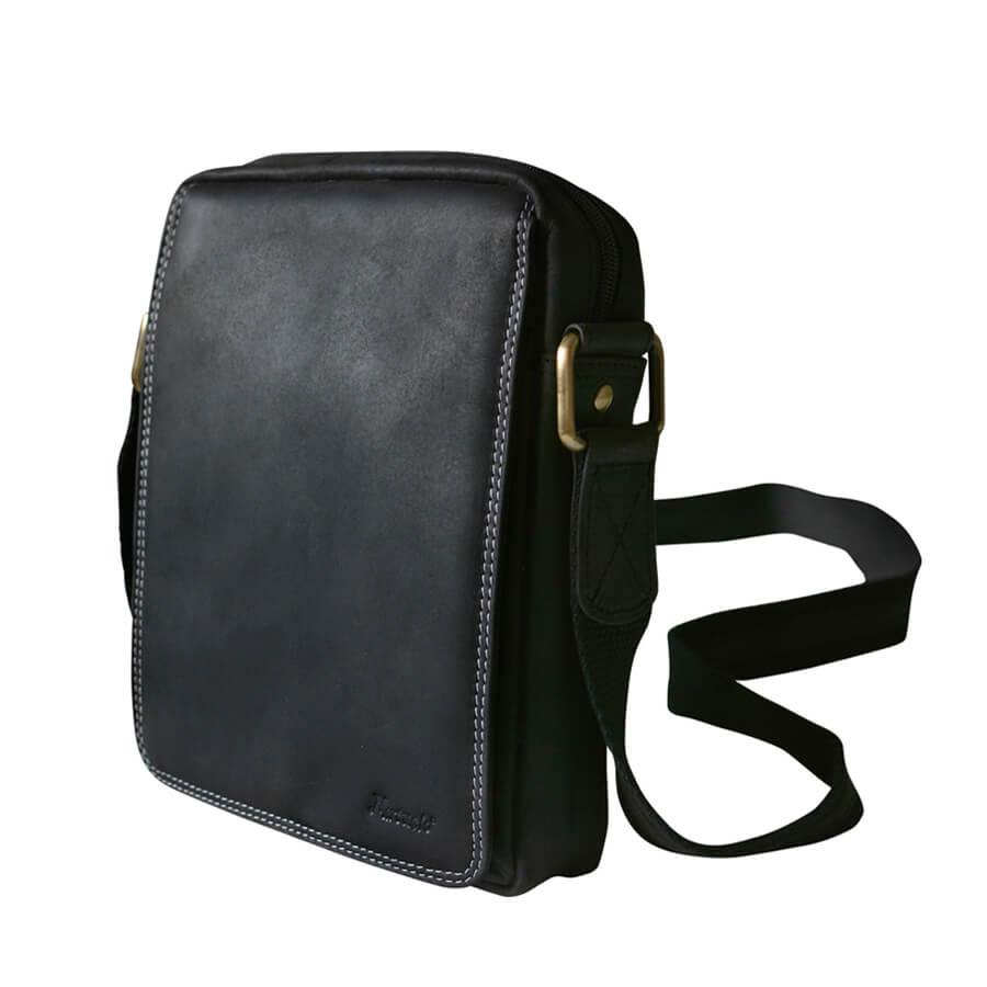 0492e5557 TOP5 Detail produktu Čierna kožená pánska taška cez rameno Mercucio