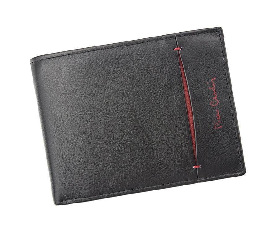 90952dcabdd7 Detail produktu Jednoduchá pánska kožená peňaženka Pierre Cardin čierno- červená