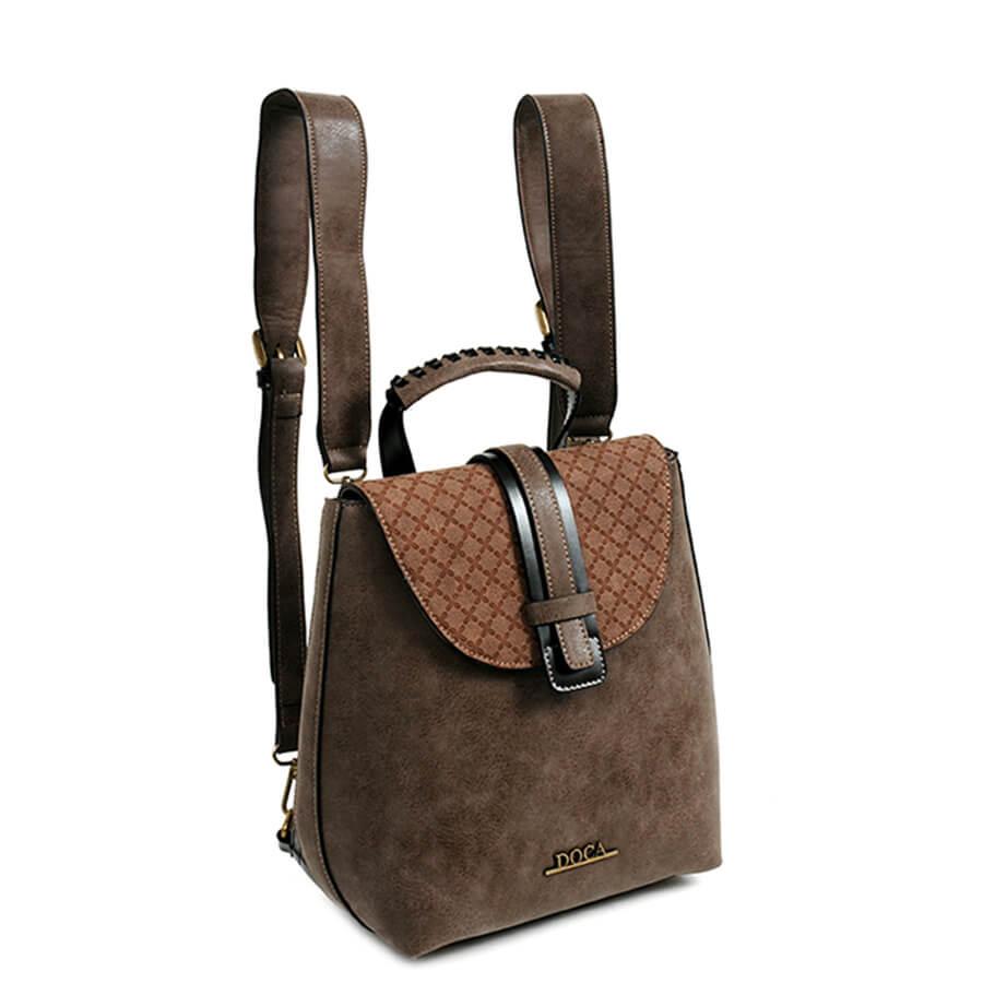 3dd3dd2379 DOCA - dámsky hnedý ruksak 11697 - Lamour.sk