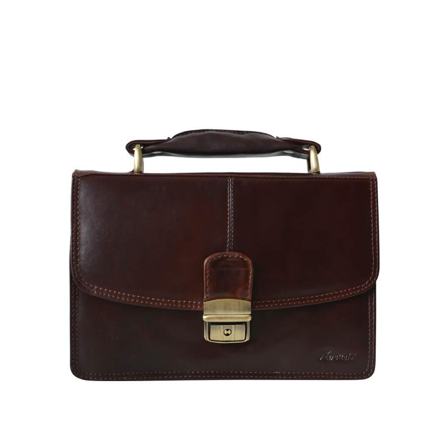 263d7b740 Hnedá pánska kožená taška etue Mercucio s rúčkou - Lamour.sk