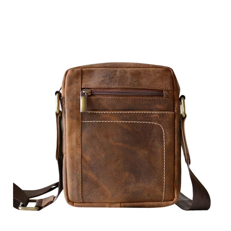 3b823b707 Malá pánska kožená taška cez rameno Mercucio svetlohnedá - Lamour.sk