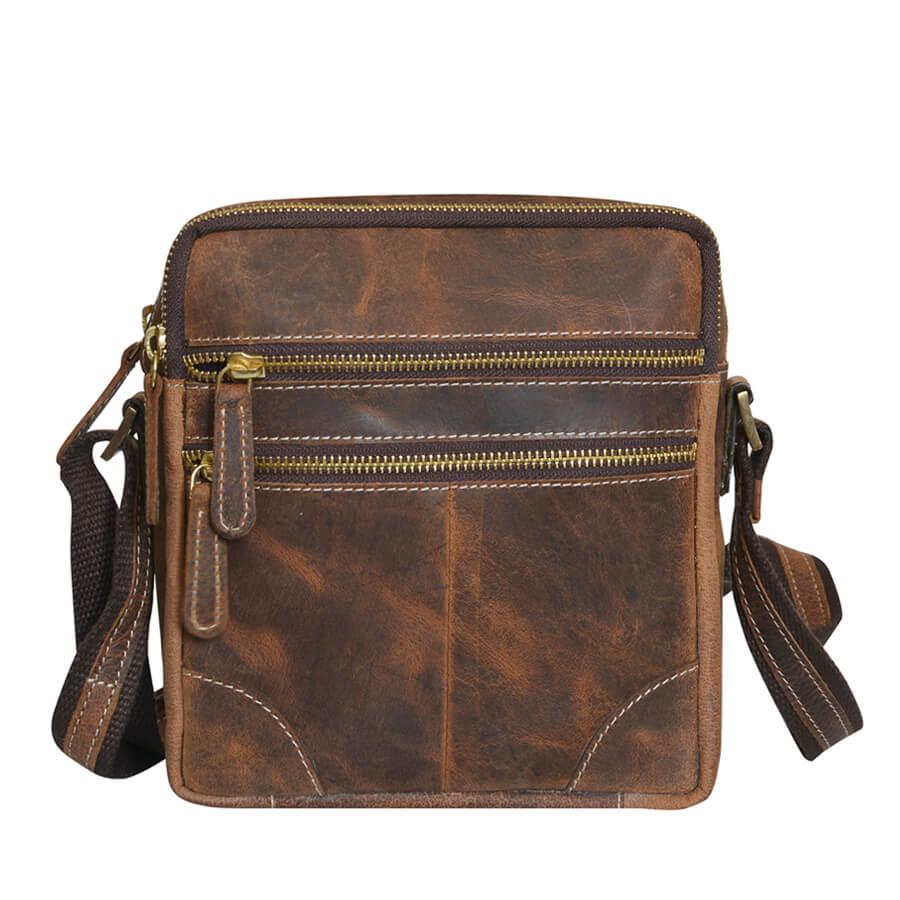 ff644e9f9 TOP5 Detail produktu Praktická hnedá pánska kožená taška Mercucio