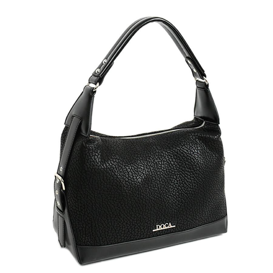 4ff7055b10 Detail produktu DOCA - praktická čierna kabelka 11712