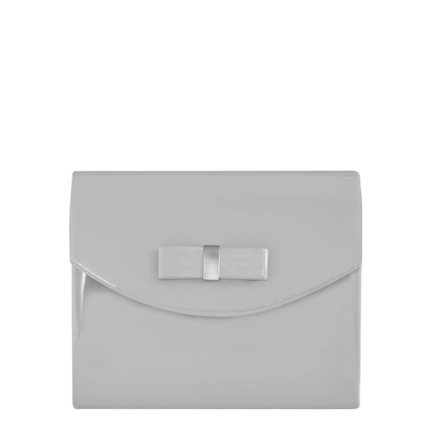 51000b1a7c Sivá listová kabelka s mašličkou - Lamour.sk