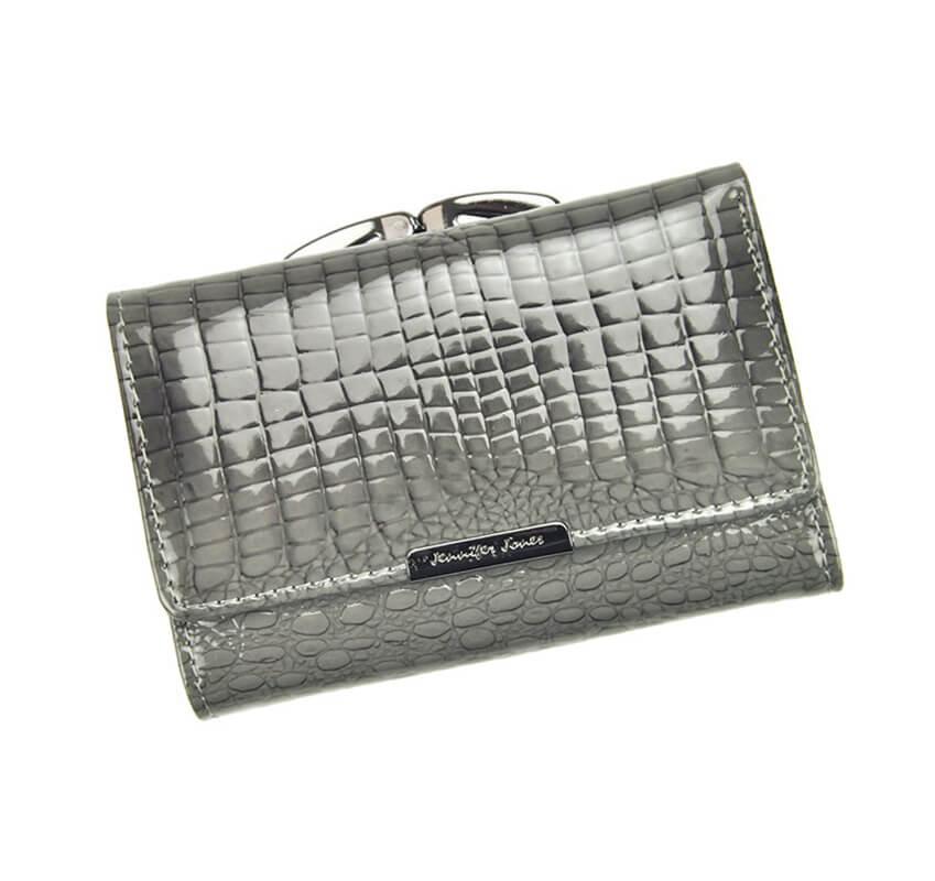 b6697434e517 Dámska kožená malá peňaženka sivá - Lamour.sk