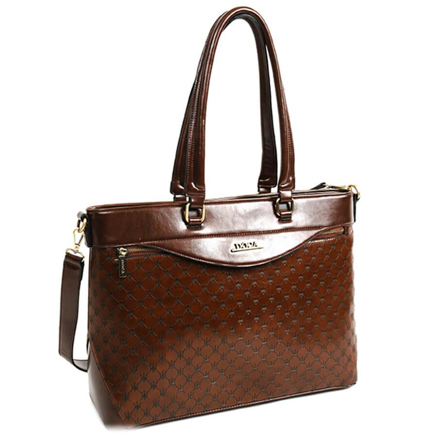 9a36686bb8 Detail produktu DOCA - veľká hnedá elegantná kabelka 11726